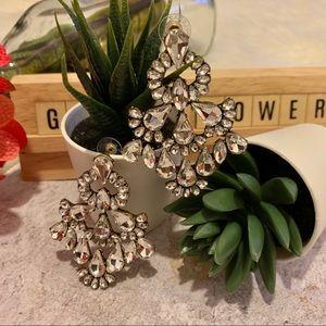 BaubleBar | Crystal Chandelier Statement Earrings